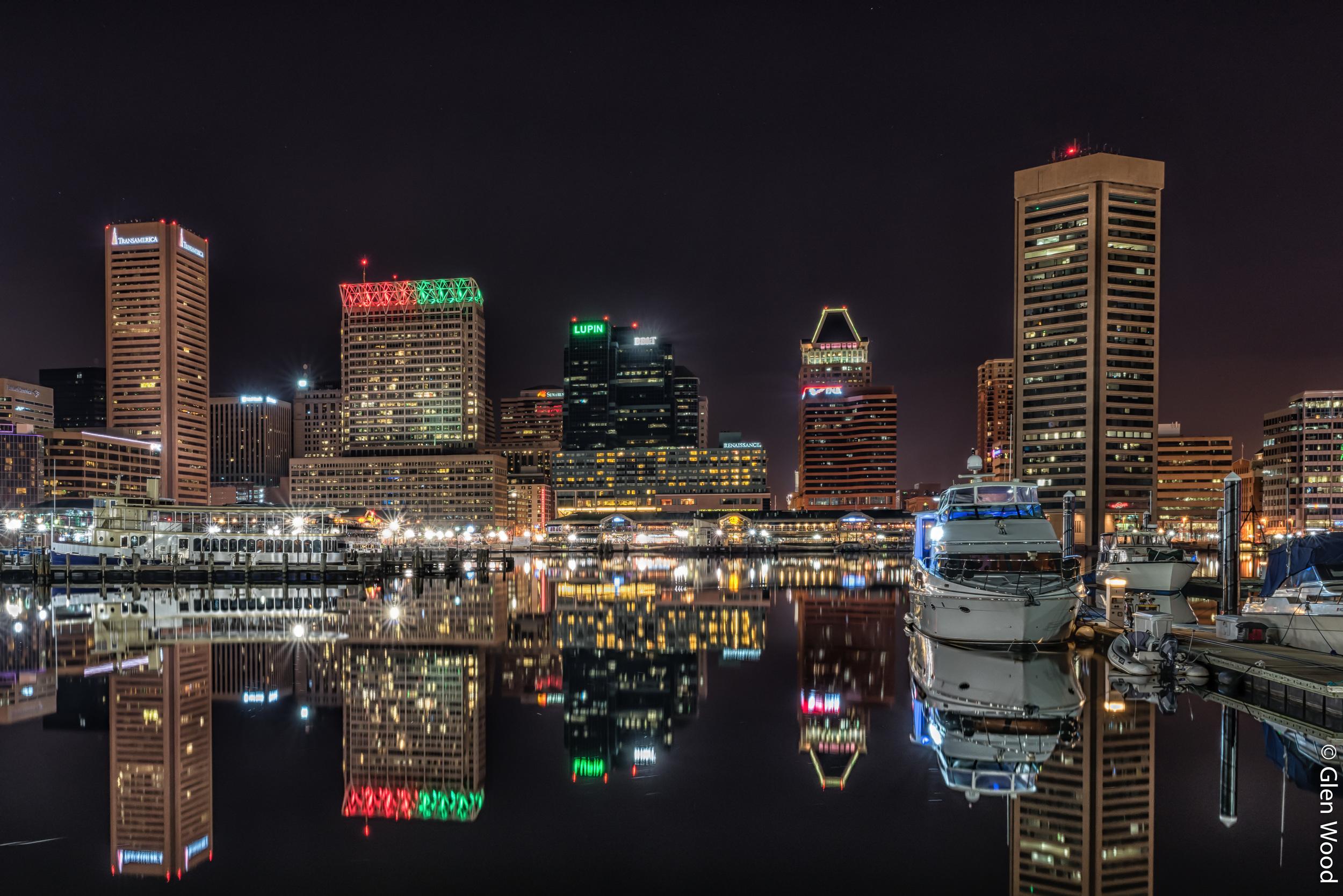 Baltimore Inner Harbor - Xmas 2014