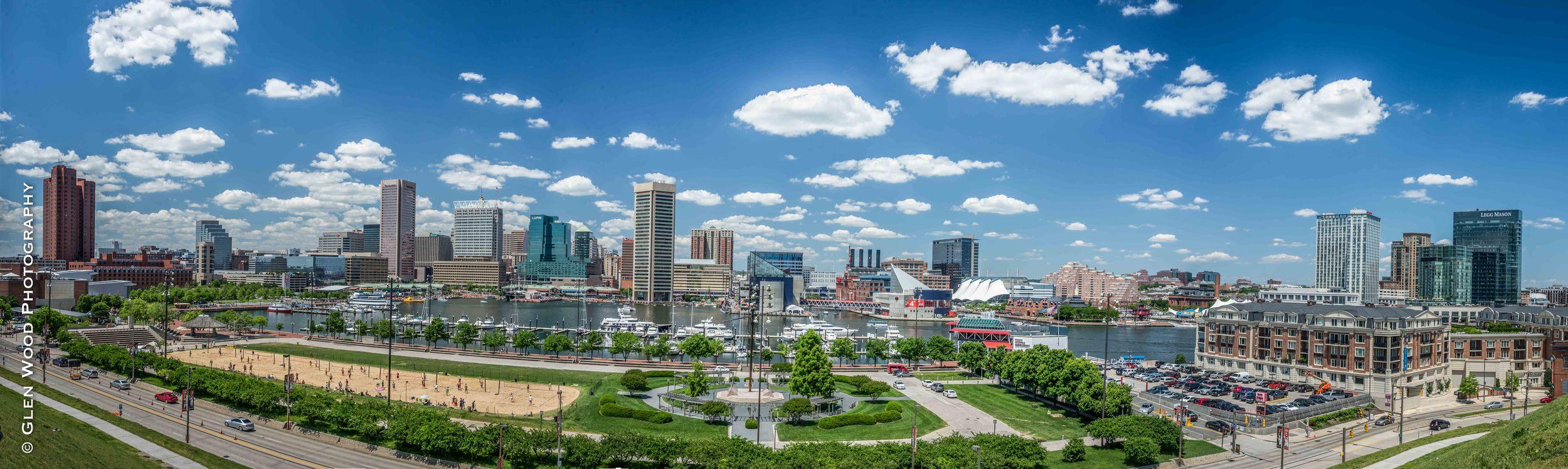 Panoramic Baltimore Federal Hill 2014
