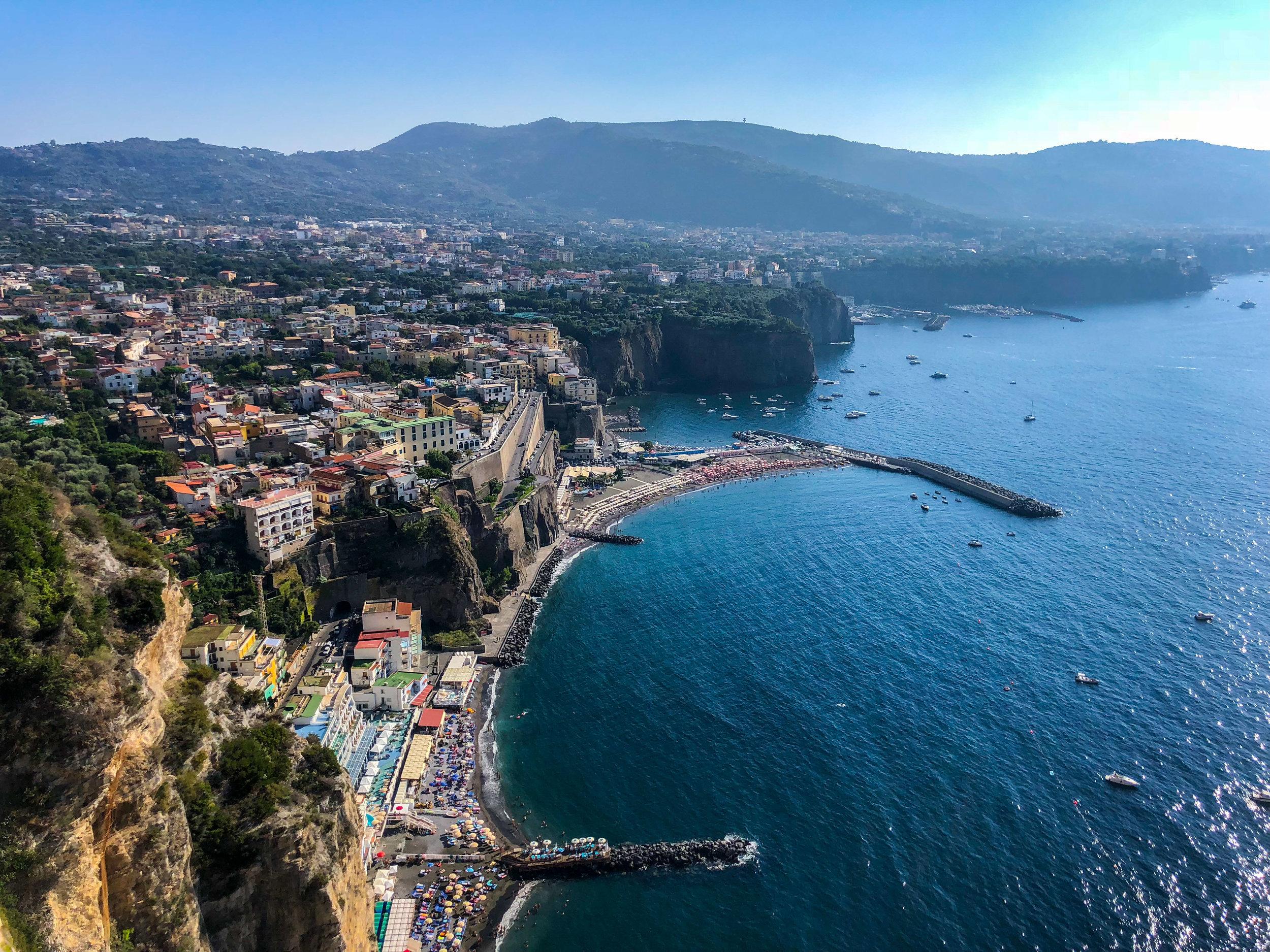 View of Sorrento coastline