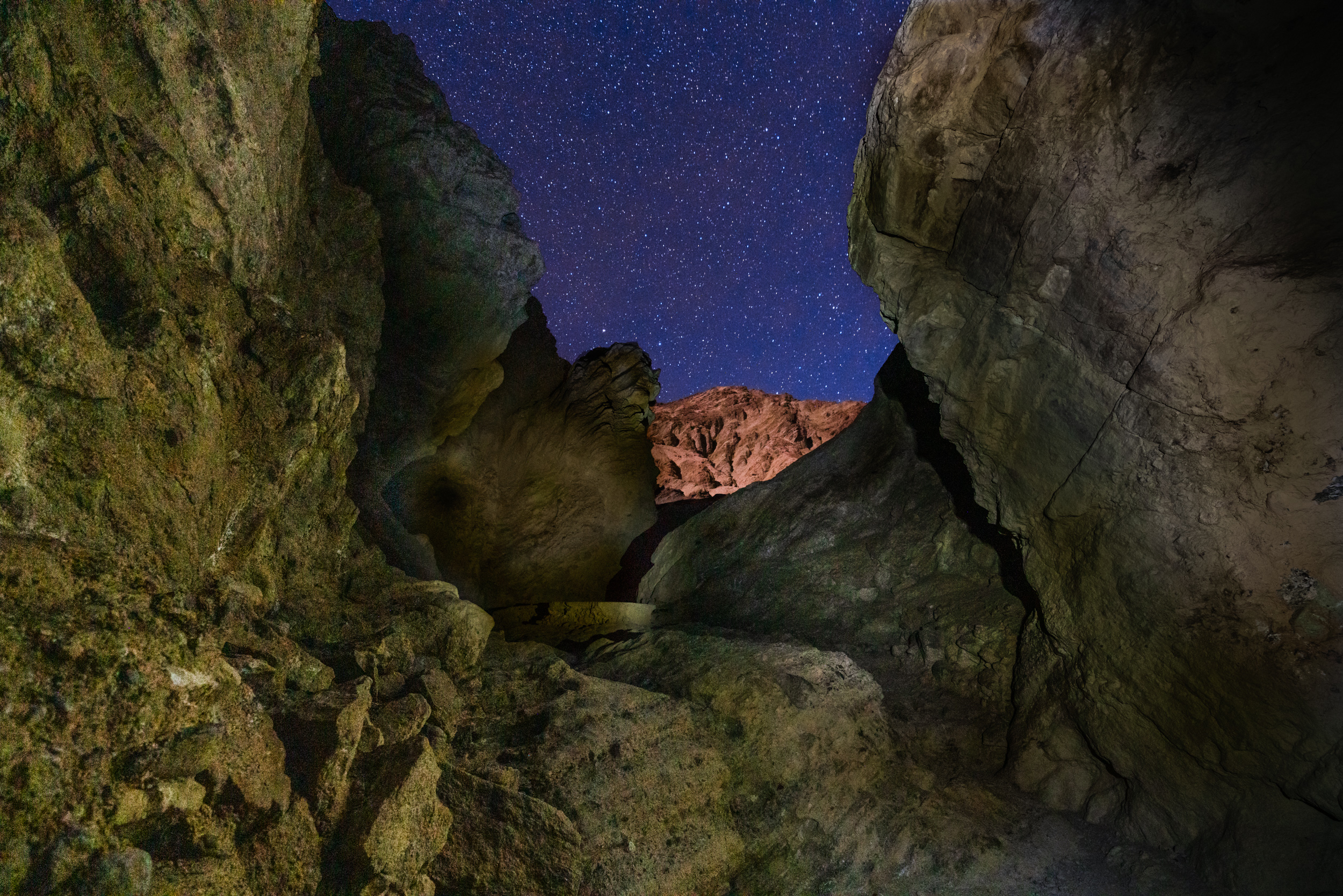 Golden Canyon Trail by starlight