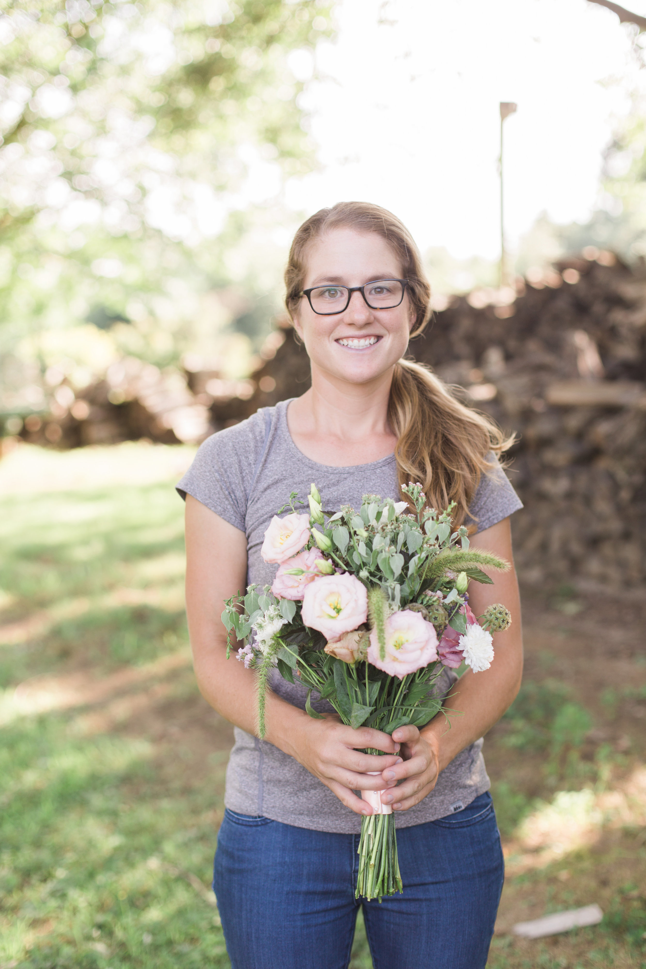 Maya Velasco came from flower and veggie farming at  Greyfield Inn  in Florida to learn more about growing cut flowers.