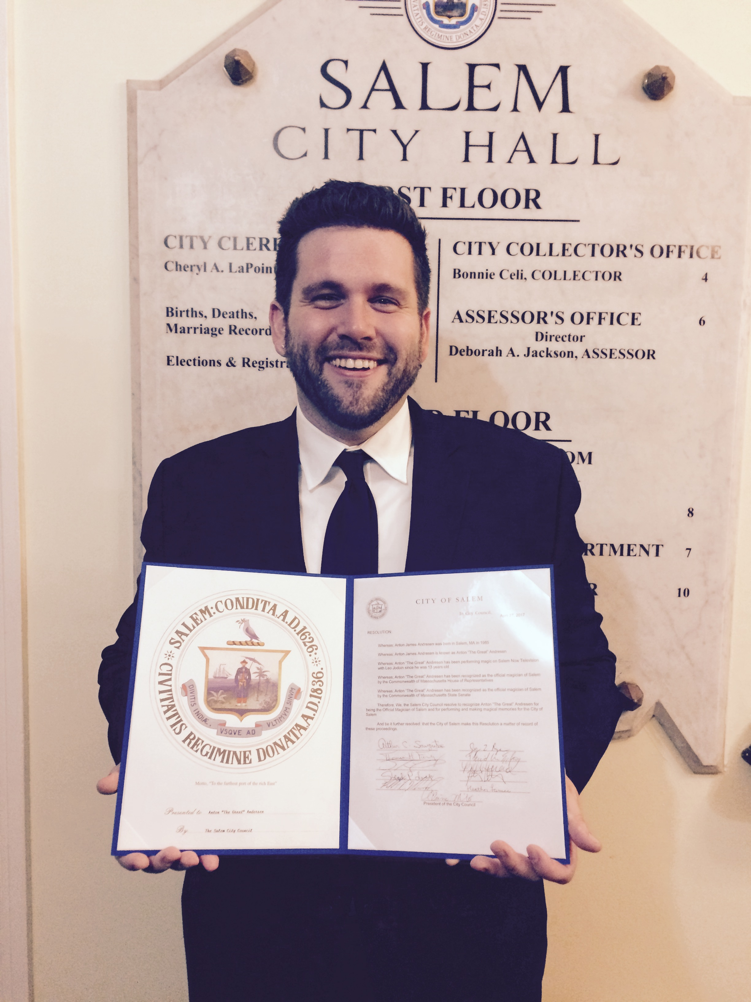 Receiving his third proclamation from Salem City Hall April 27th 2017.