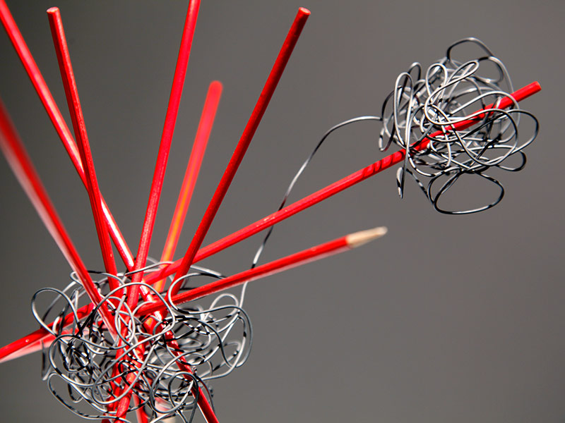 Detail: Scale is a Mindset with Red Sticks (and Wire)
