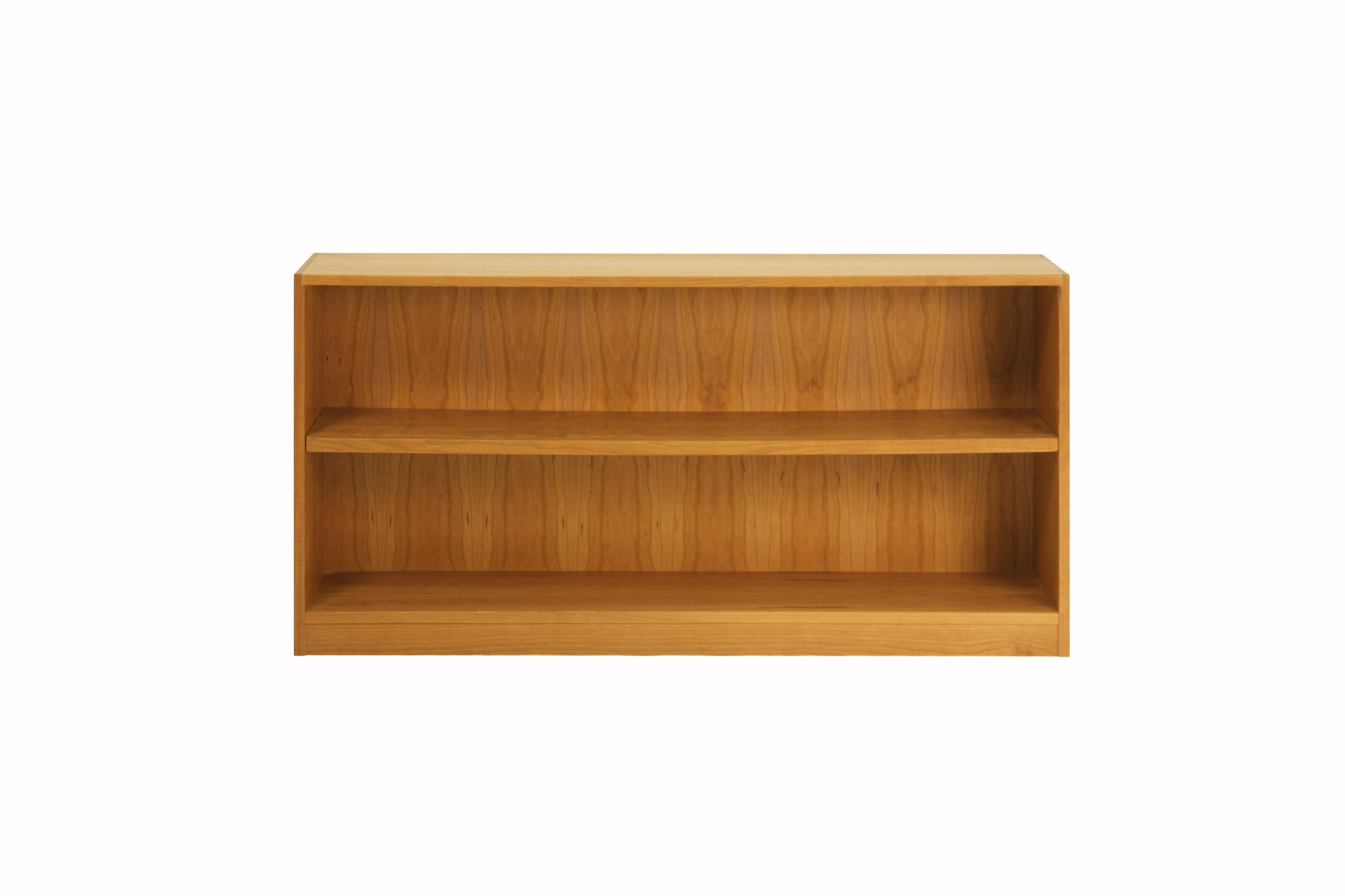 Low Bookcase with Adjustable Shelf in Cherry