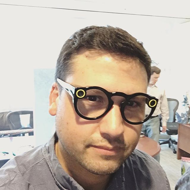 trying out #snapchat #spectacles 😎. #wearabletech