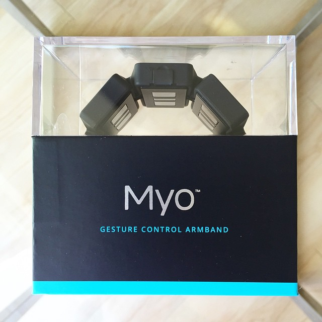 Neow Labs just got a new toy👋! #myo #wearabletech