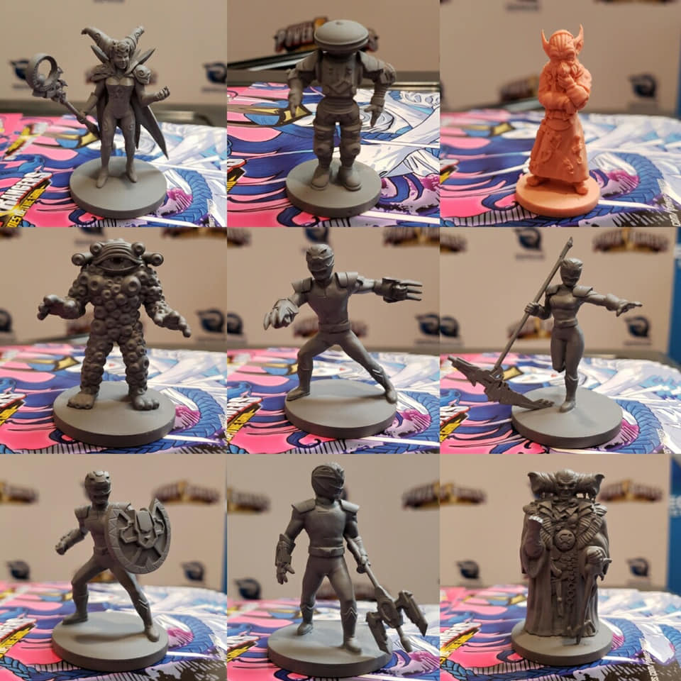 Some of the figures we showed off!