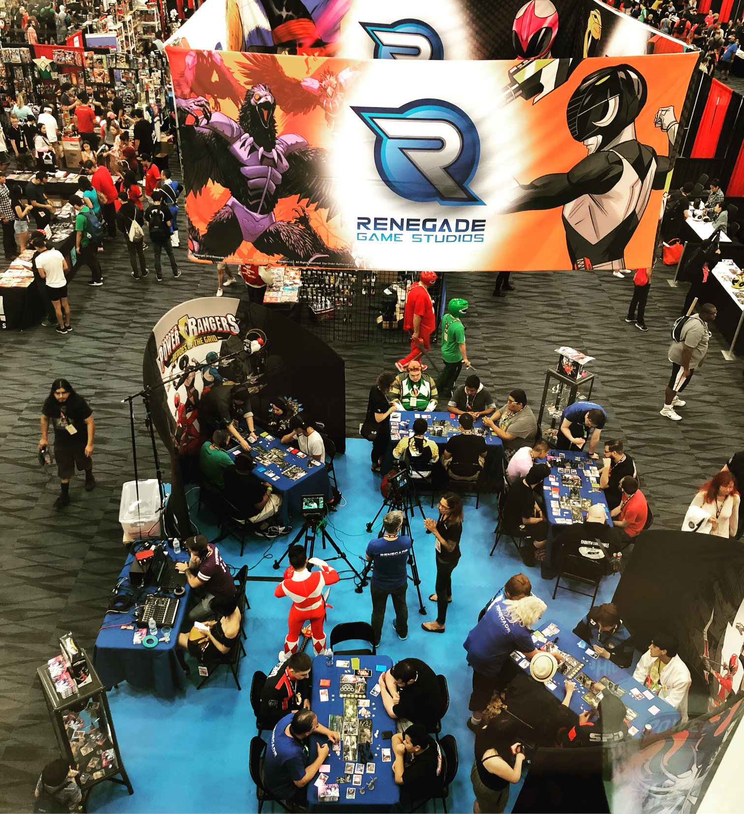 Eagle-eye view of the booth!