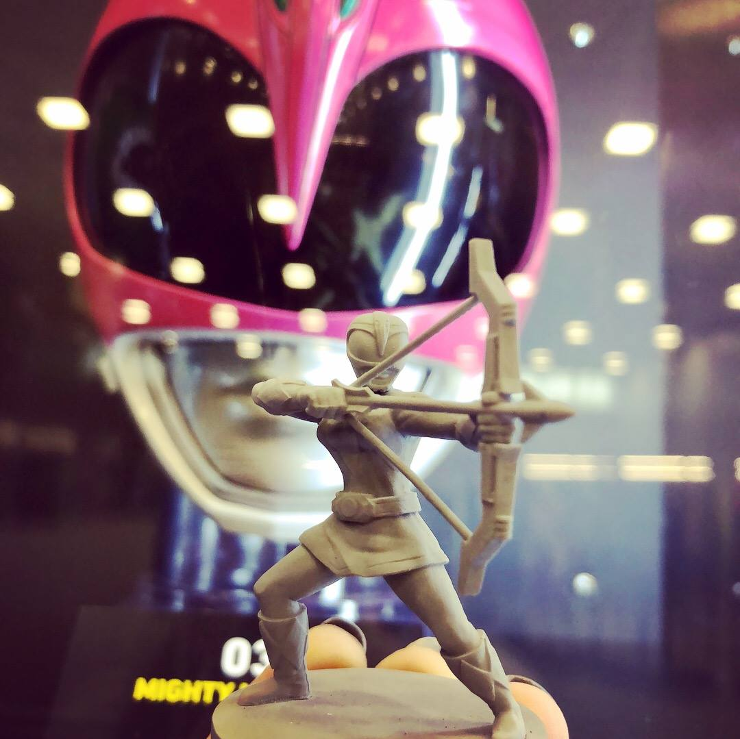 The original Pink Ranger helmet and the figure!