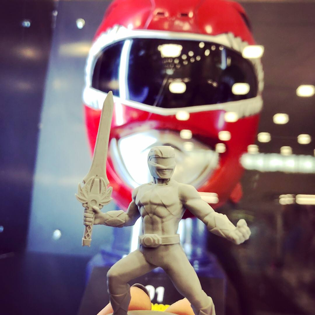 The original Red Ranger helmet and the figure!
