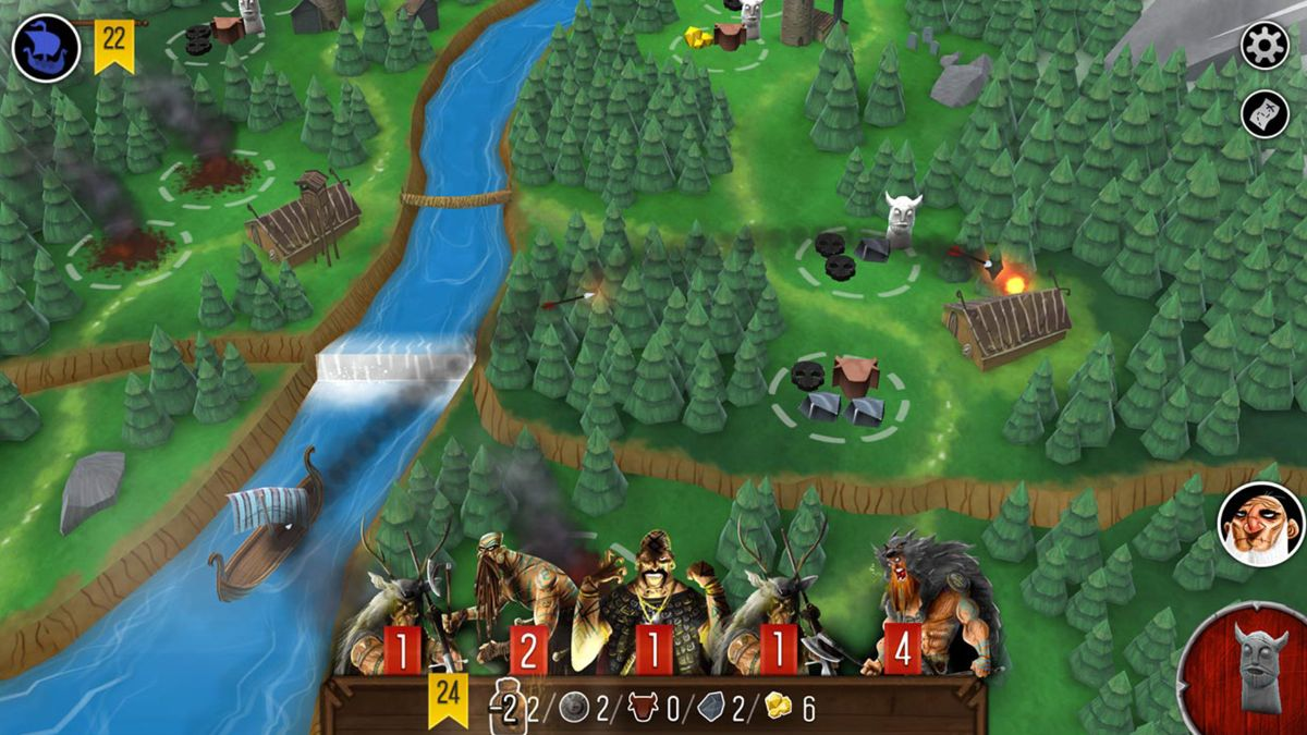 Screen capture of Raiders of the North Sea App Gameplay