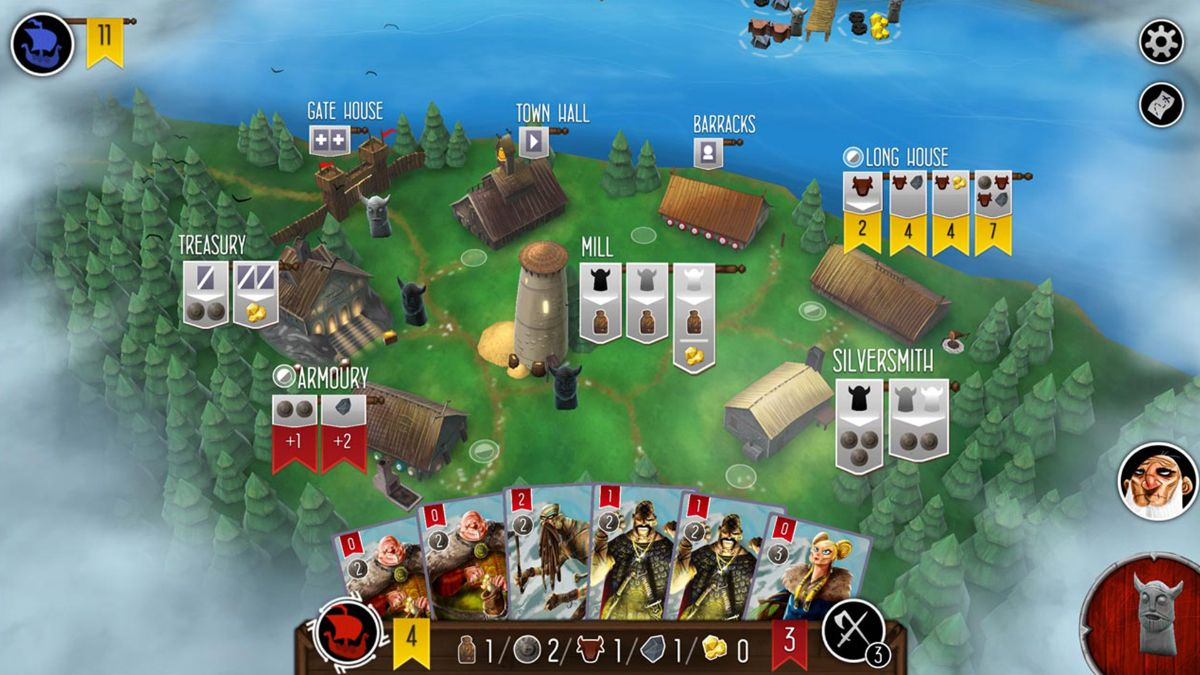 Raiders of the North Sea App Screen capture of Gameplay with worker placement