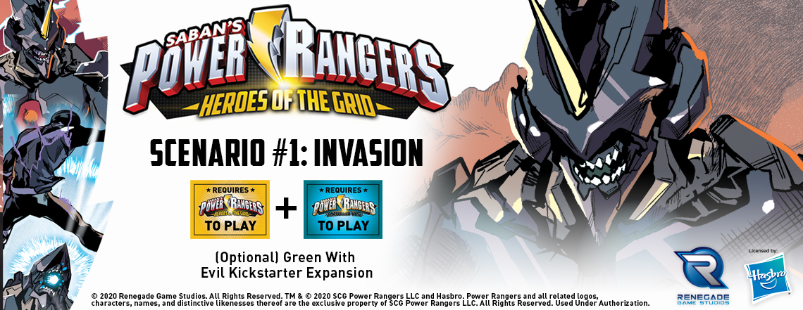 Power Rangers: Heroes of the Grid Scenario 1: Invasion - click the banner or   download it here!