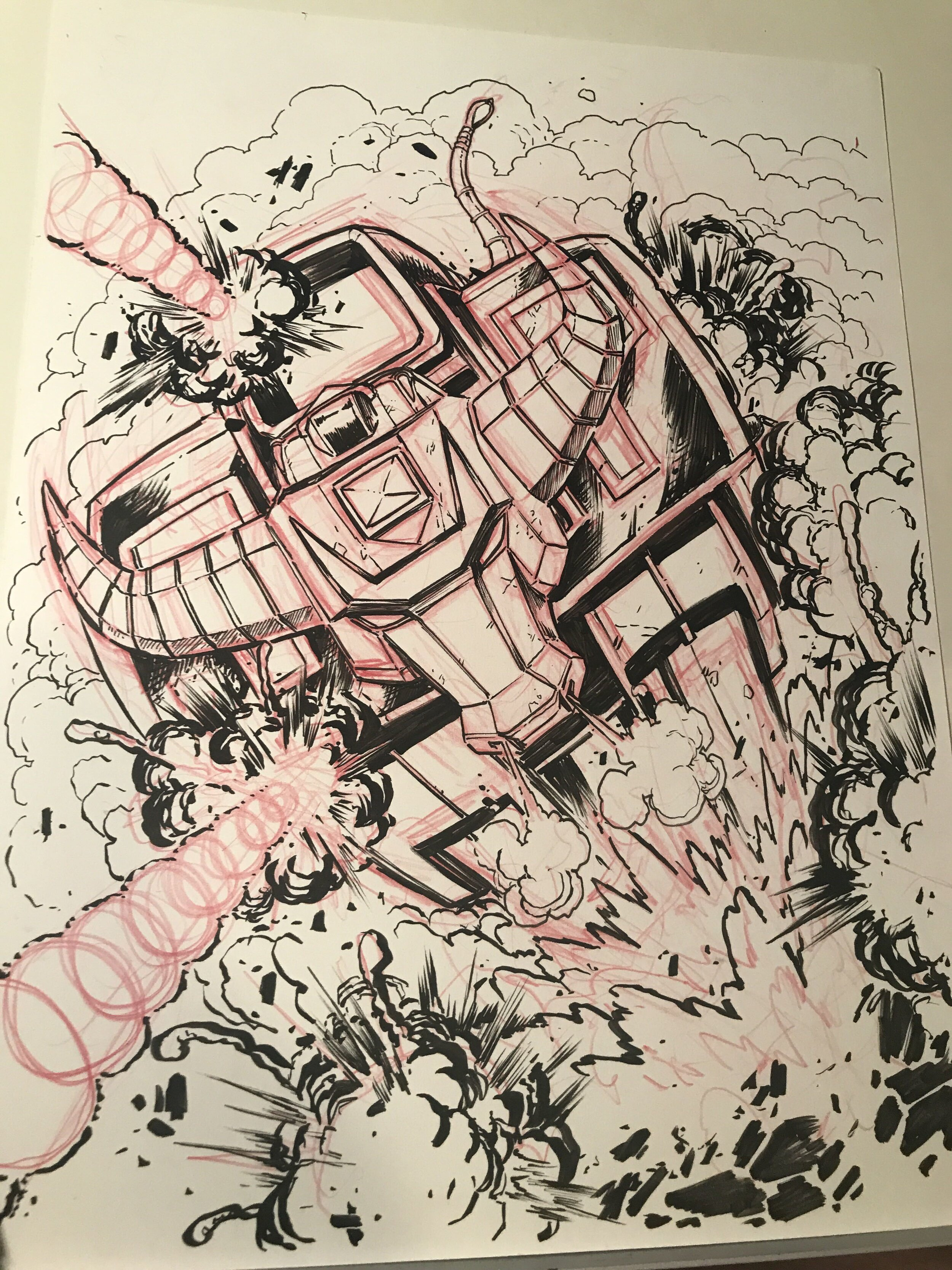 A ZeoZord sketched by Matt Frank