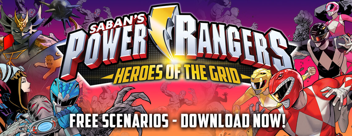 Get free Power Rangers: Heroes of the Grid scenarios - new scenarios release on the middle Thursday monthly!
