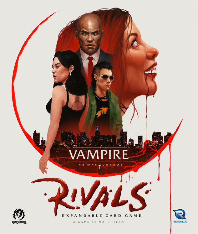 Vampire The Masquerade Rivals Expandable Card Game Box Art - Flat Front