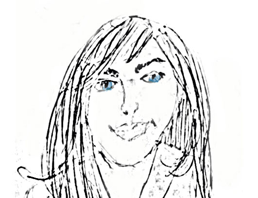 This sketch is doing wonders for my complexion. Thank you to my sister from another mister, Katy E.
