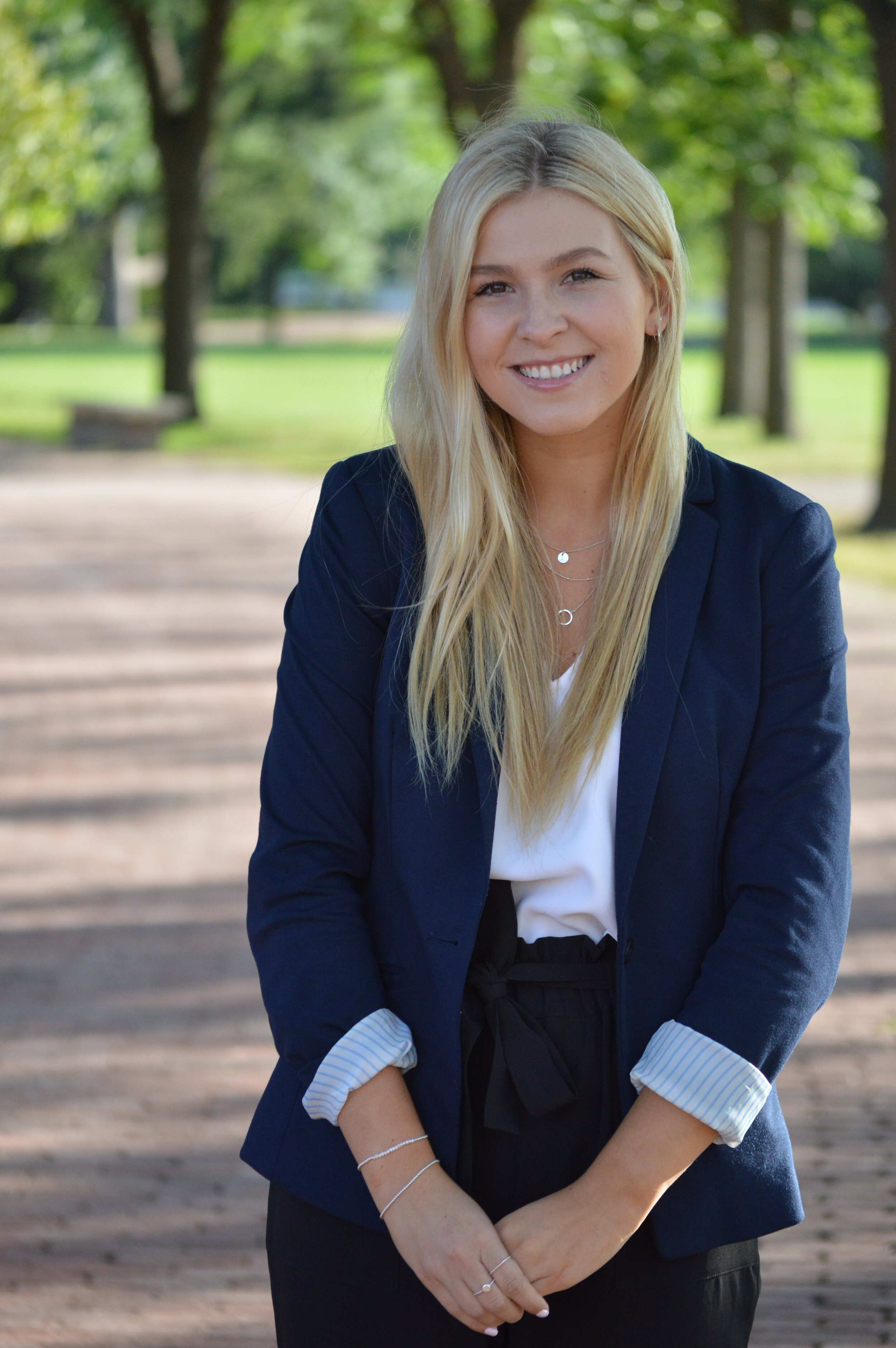 """Marketing lead - Name: Madison BoyackProgram: 5th Year Marketing Management (Co-op)3 favourite things: Travelling, Concerts and Friends/FamilyFavourite TED Talk: """"My Philosophy for a Happy Life"""" by Sam Berns"""