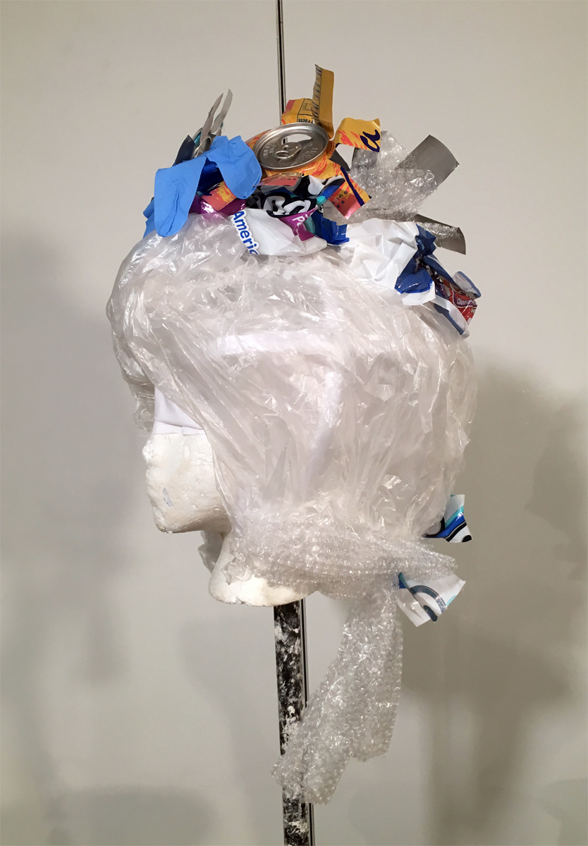Plastic and Trash Powdered Wig
