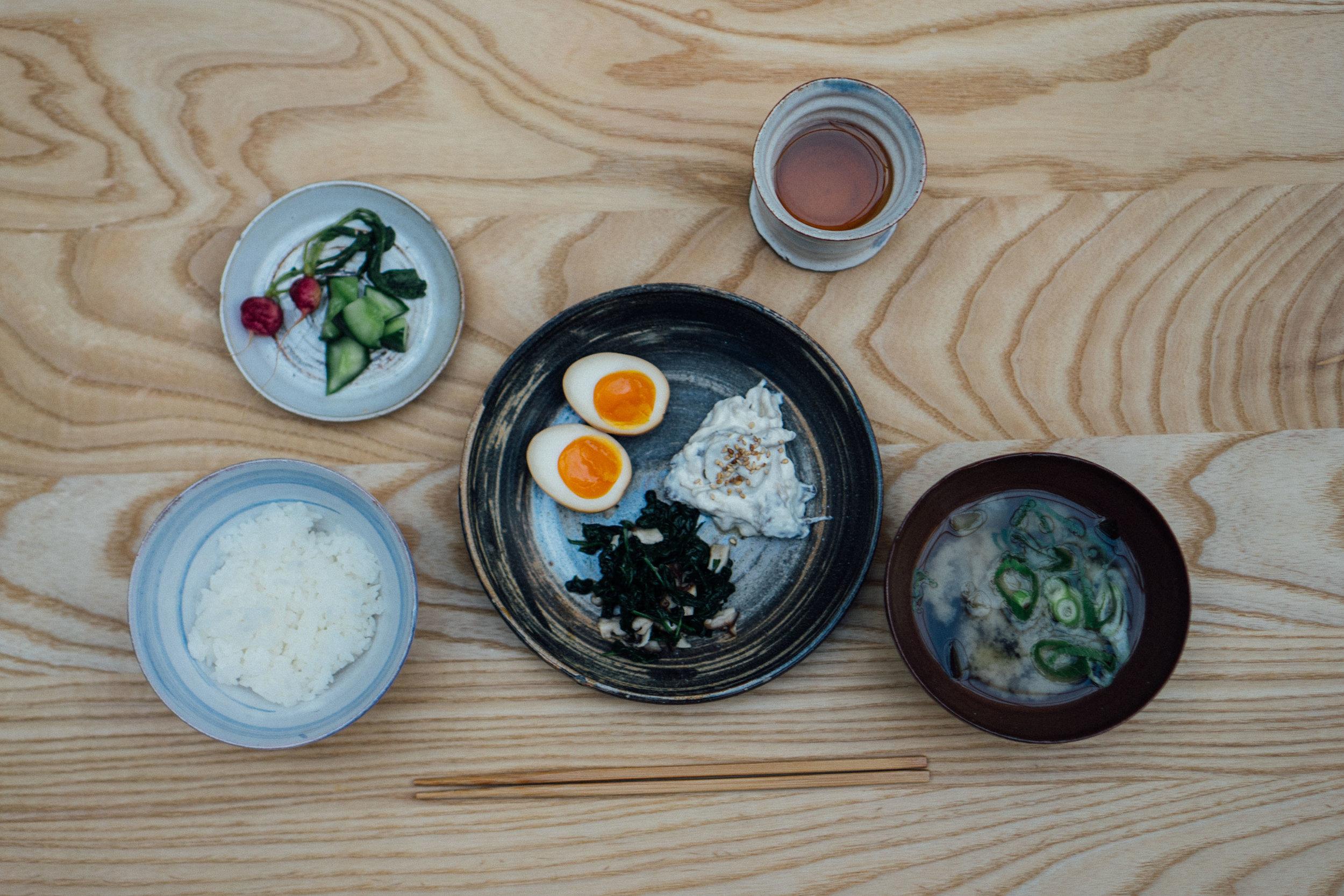 Ichijuu Sansai, Japanese breakfast by shellsten