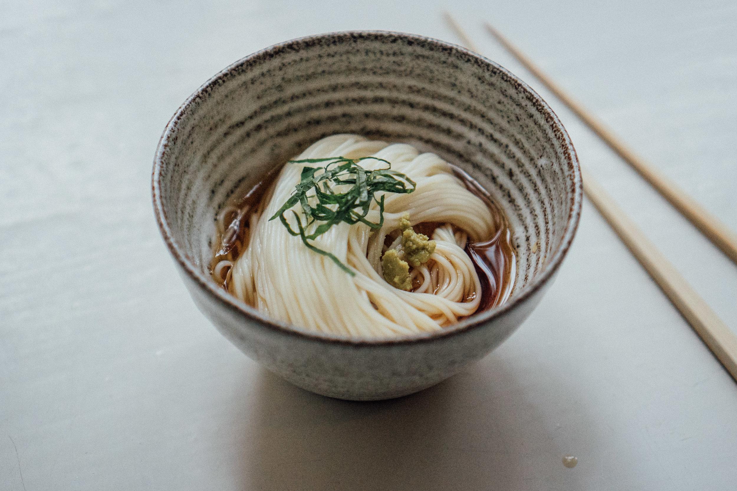 Chilled Japanese somen for Underverk - by shellsten