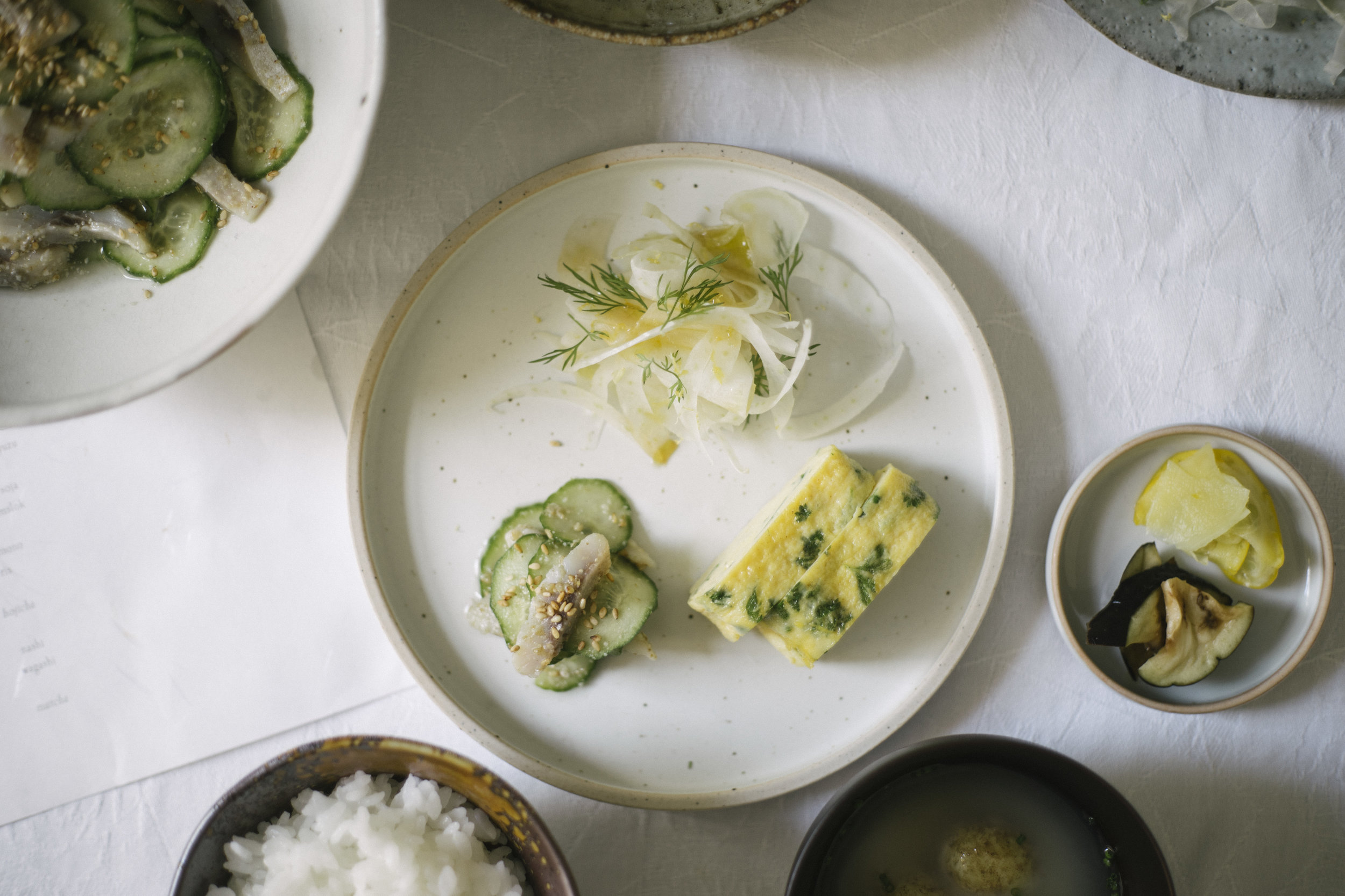 Japanese ichijuu sansai breakfast at Leaves & Grains - by shellsten