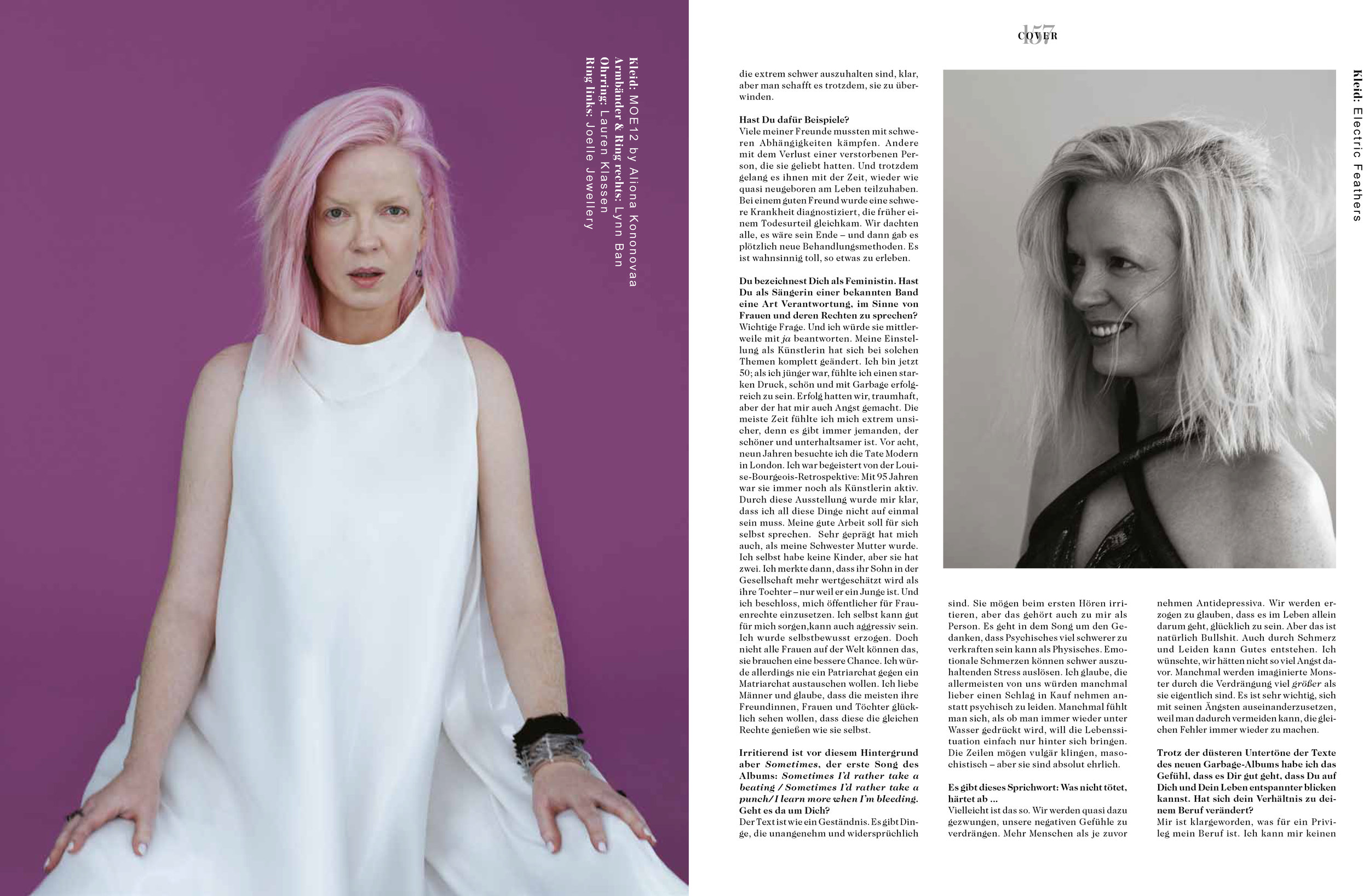 Shirley Manson Renata Raksha Fräuline Magazine
