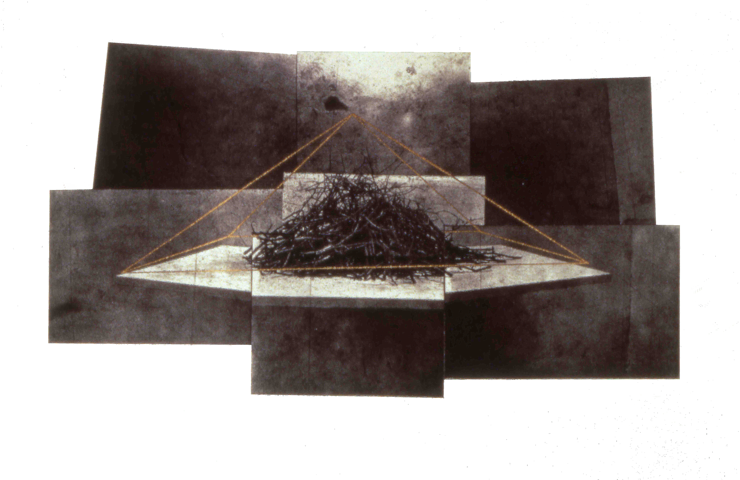 untitled,1992, photo etching & screenprint, 11 x 16""
