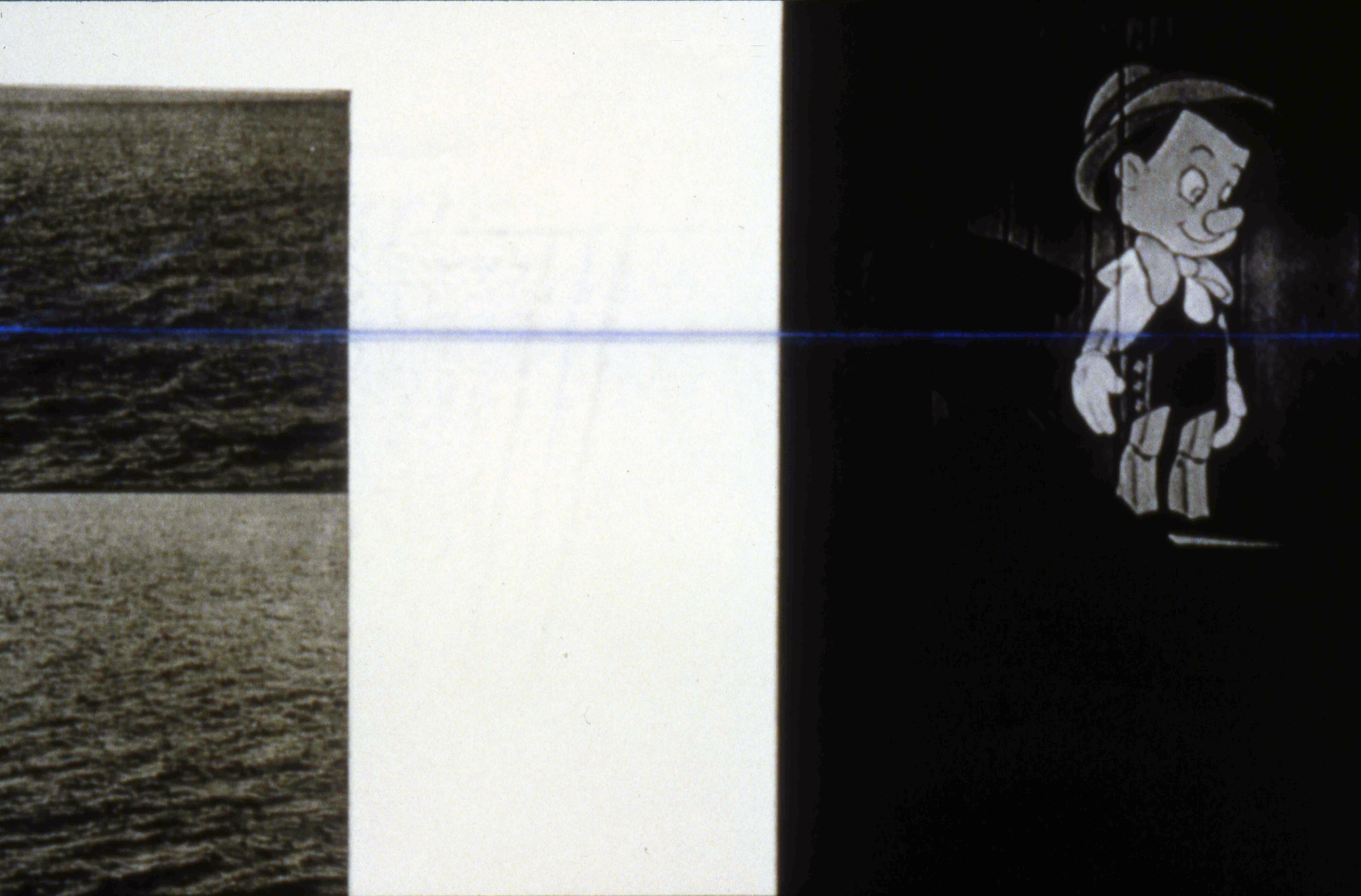 untitled, 1997, Photo Gravure with Chalkline on Plexi, detail