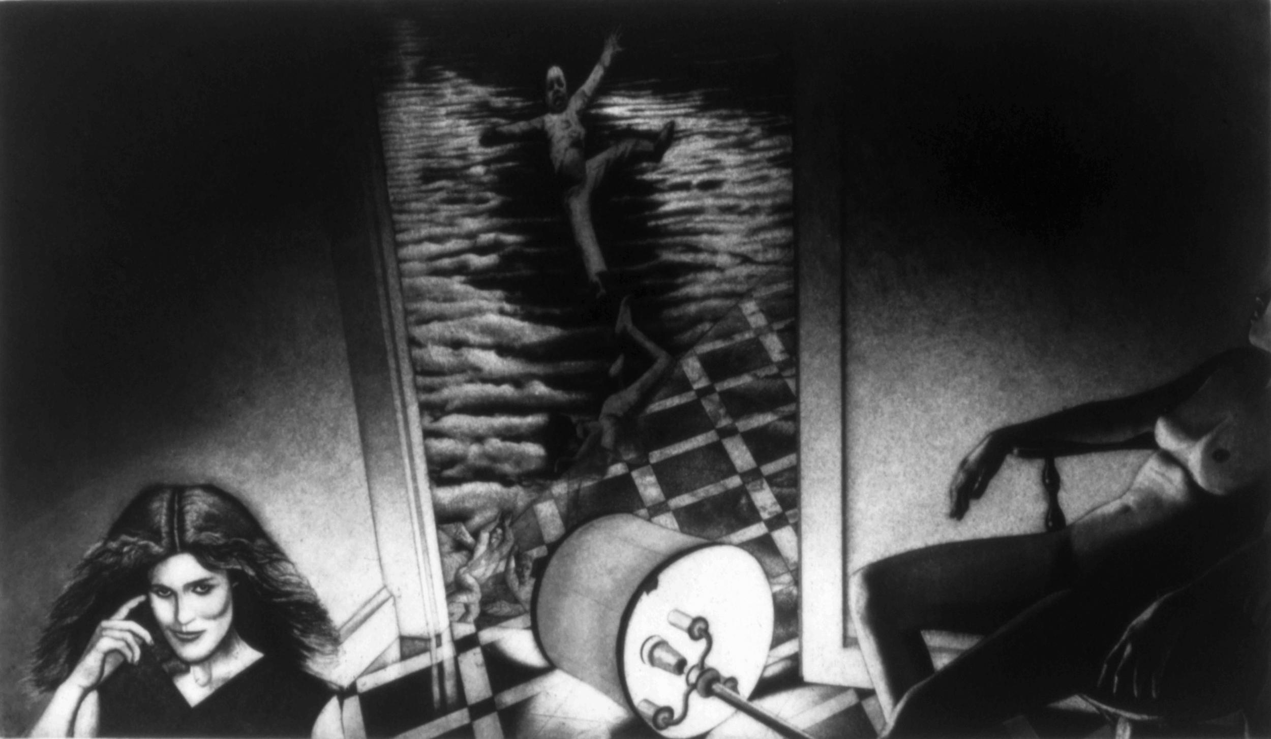 """Through the Door,1980,Intaglio,14 x 24"""""""