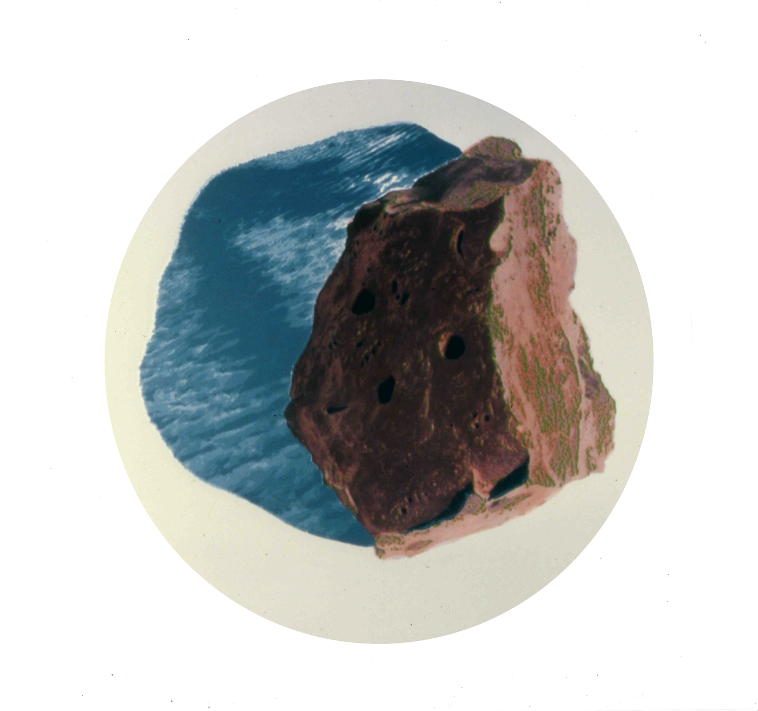 Rock and Clouds Series #3 . 8 inches diameter. screen print on photo.1978.jpg