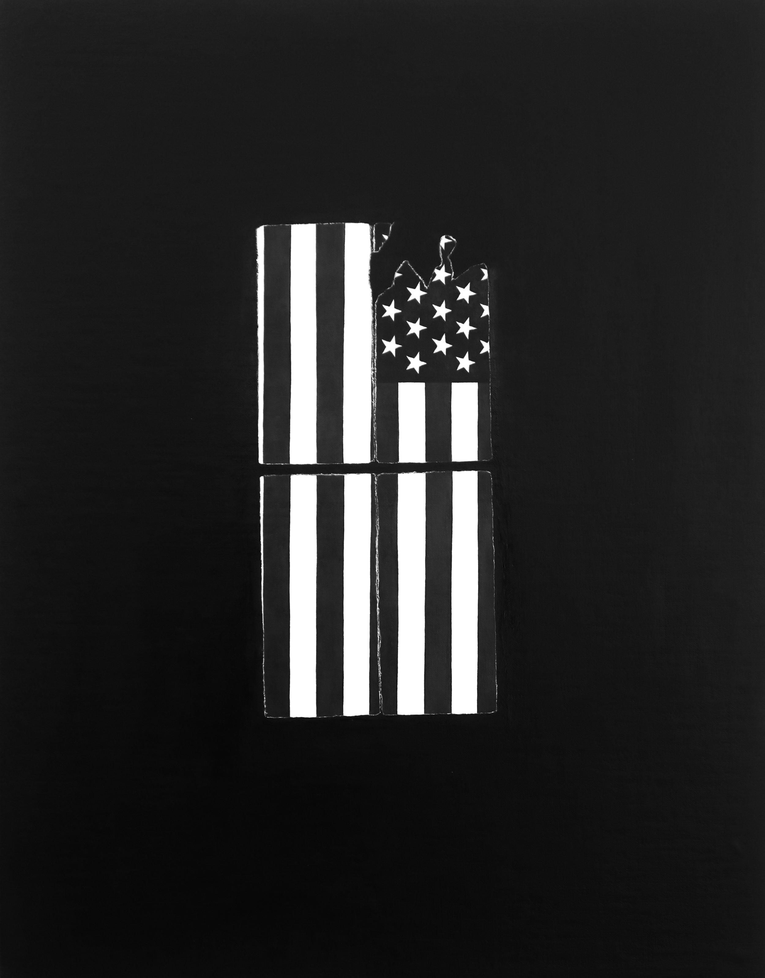 Alex Bierk,American Window, 2016,oil on linen, over panel, 17.5 x 13.75 inches