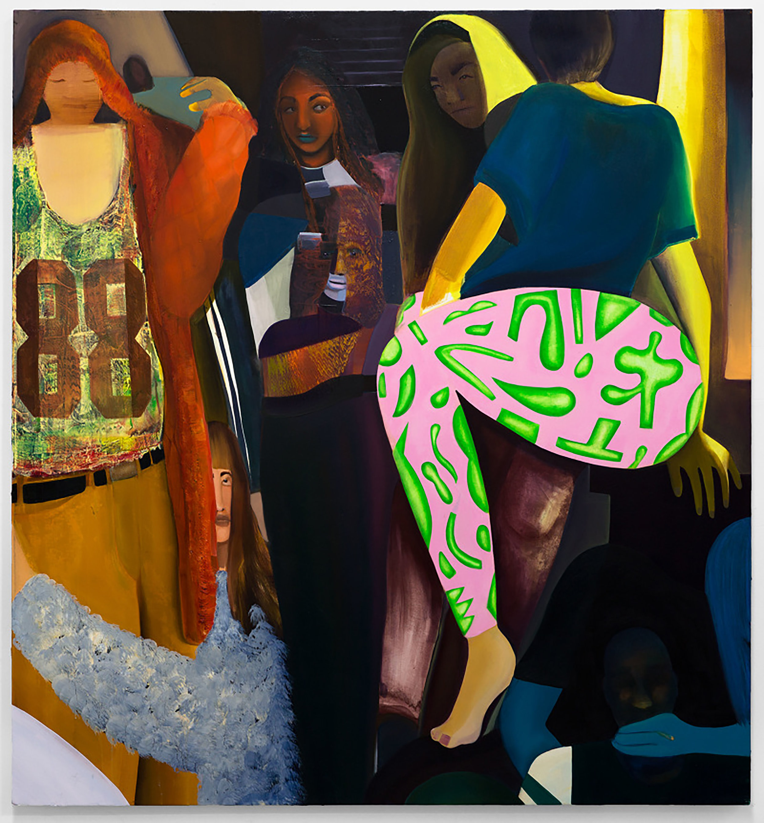 Coady Brown, House Party, oil on canvas, 56 x 52 inches