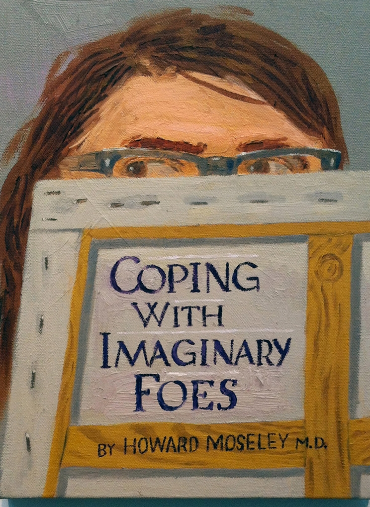 Paul Gagner,Coping With Imaginary Foes, 2015, oil on canvas,9x12 inches
