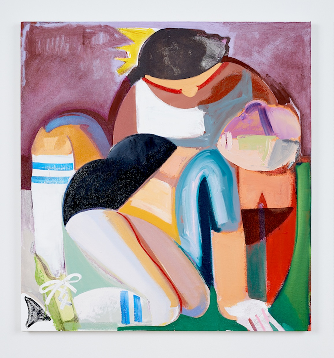 Danielle Orchard,New Best Girl, 2015, oil on canvas 32 x 30 inches
