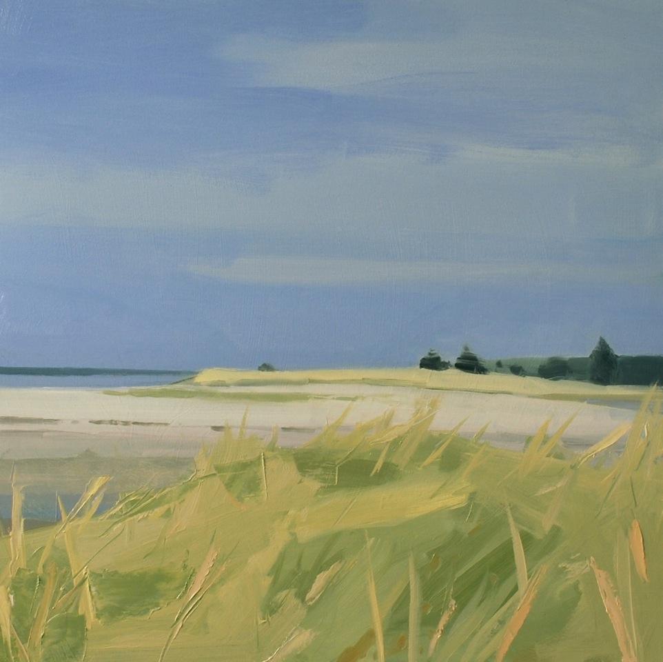 Sara MacCulloch, Carter's Beach, 2015, oil on canvas, 30 x 30 inches.