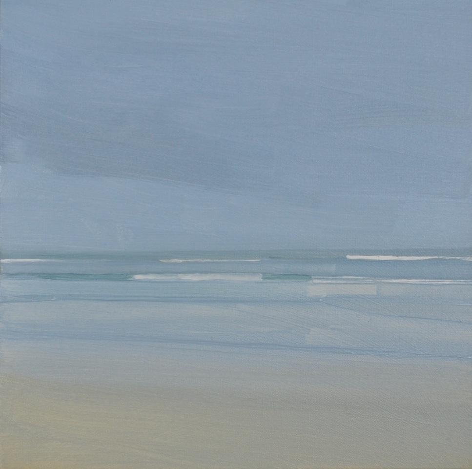Sara MacCulloch,Martinique Beach, 2015, oil on canvas, 16 x 16 inches.