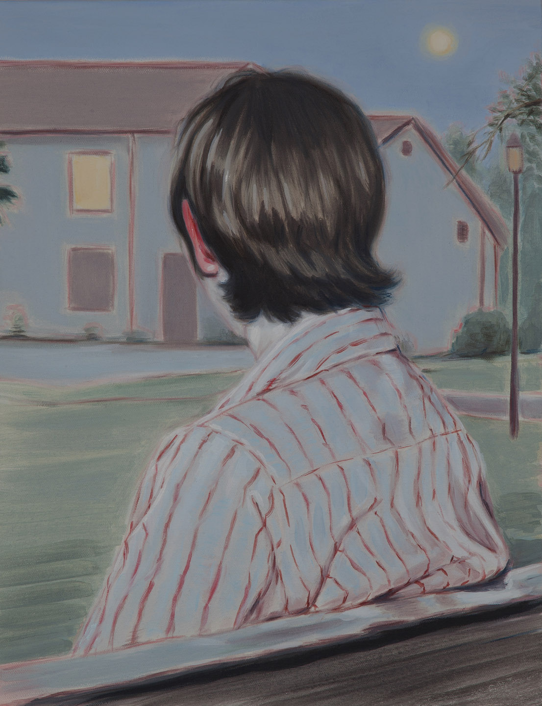 Kris Knight, Watch, 2015, oil on canvas, 18 x 14 inches.