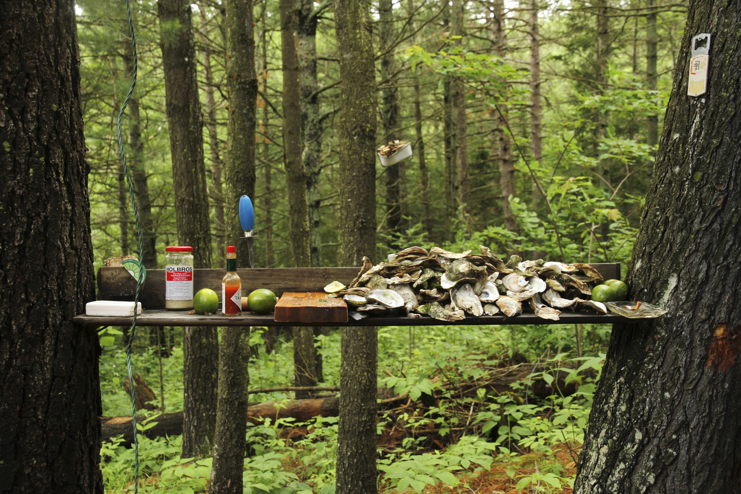 Dean Baldwin,Baptiste Lake, Milne Cottage, Malpeque Oysters, 2012, C-Print, Edition Edition 2/5, 36 x 54 inches.