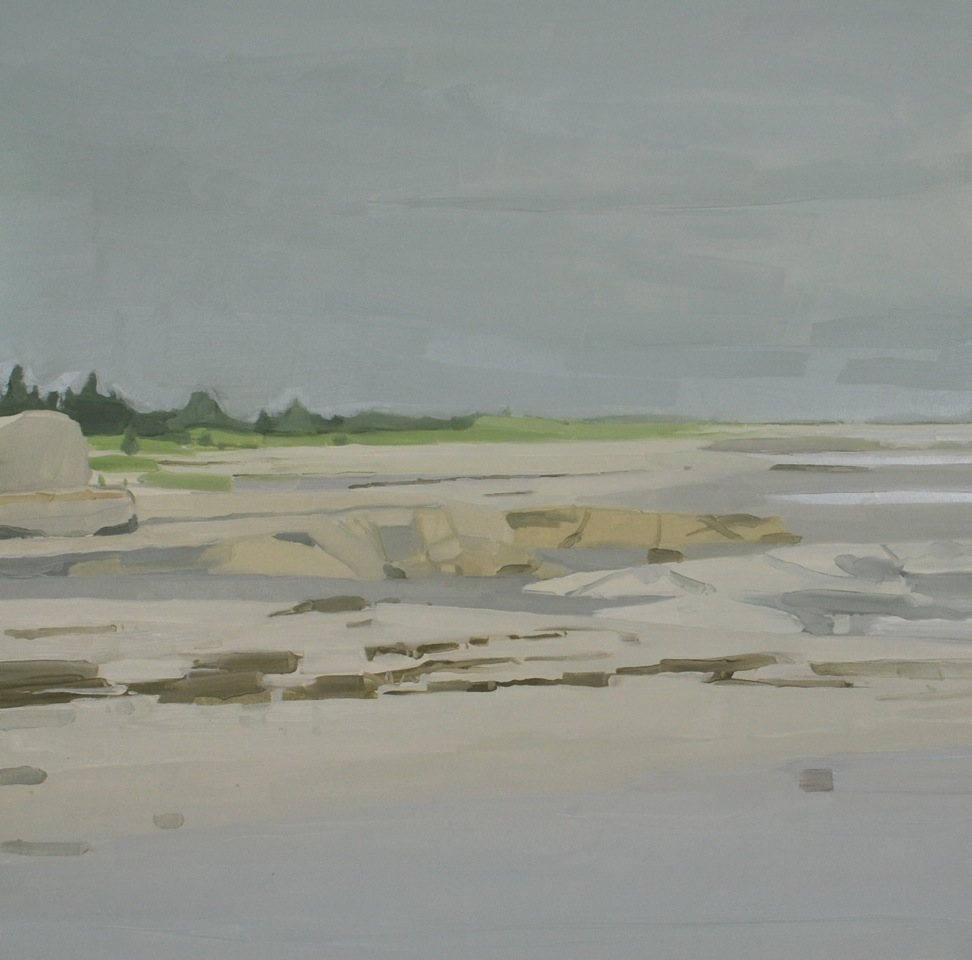 Sara MacCulloch,Beach at Port Mouton, 2015, oil on canvas,  48 x 48 inches.