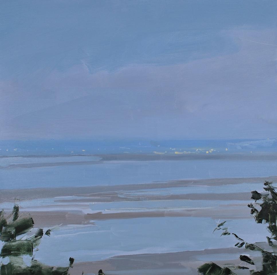 Sara MacCulloch,Kingsport Beach at Dusk, 2015, oil on canvas,30 x 30 inches.