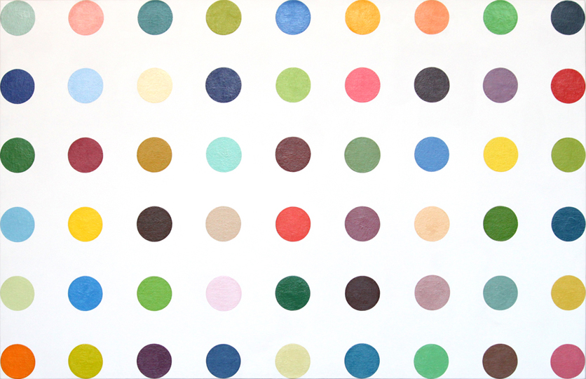 Eric Doeringer, Spot Painting, 2012, household gloss on canvas, 33 x 51 inches.