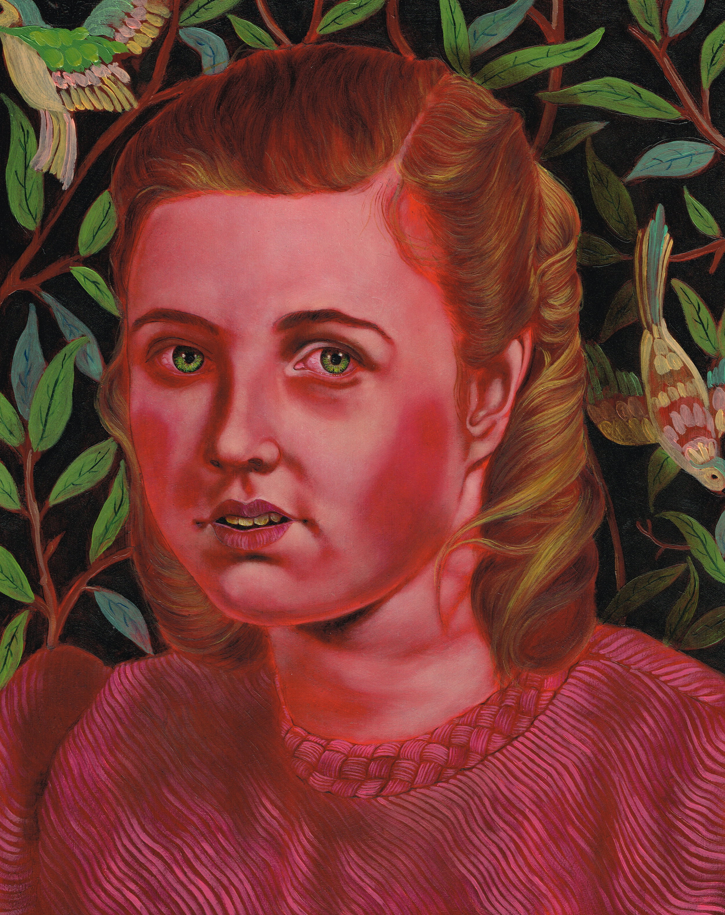 Dana Holst, Patsy, 2012, oil on panel, 10 x 8 inches.