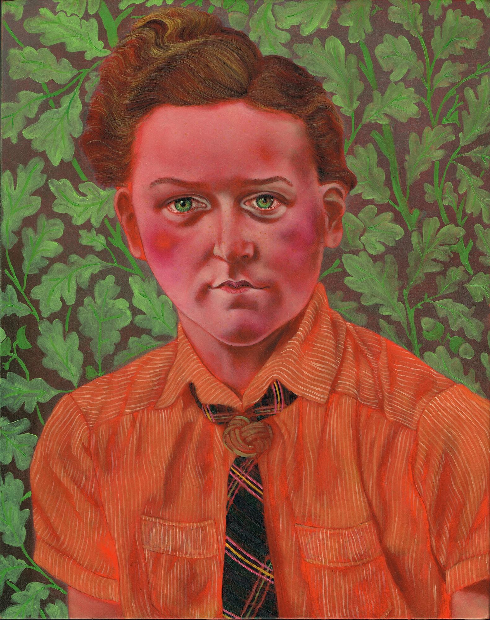 Dana Holst, Garconne, 2012, oil on panel, 10 x 8 inches.
