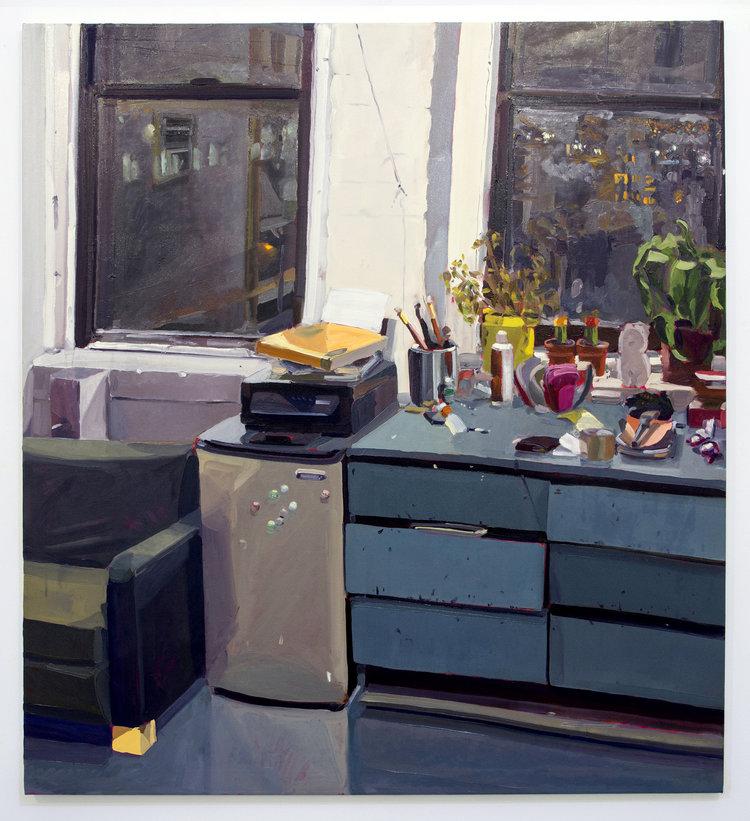 Nightlight, 2017, oil on canvas,70 x 66 inches.