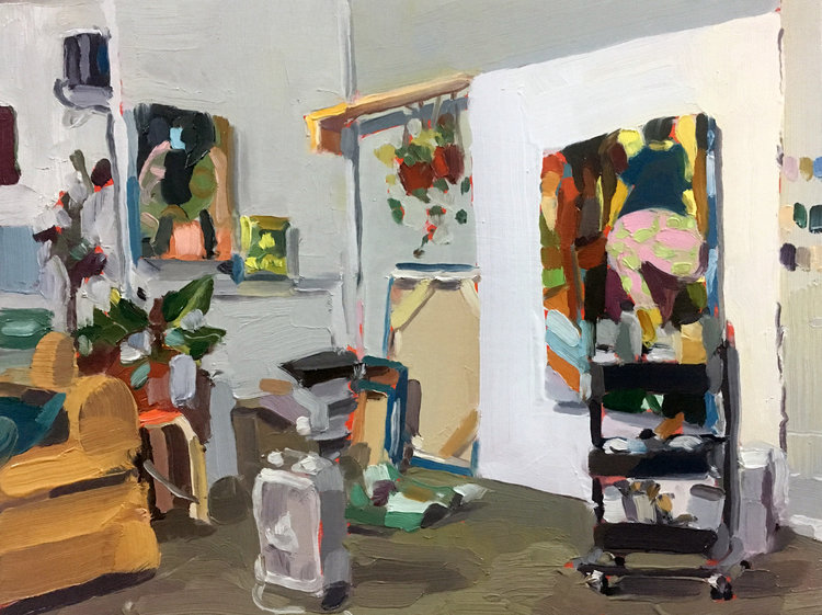Coady's Studio, 2017,oil on linen,12 x 9 inches, SOLD.