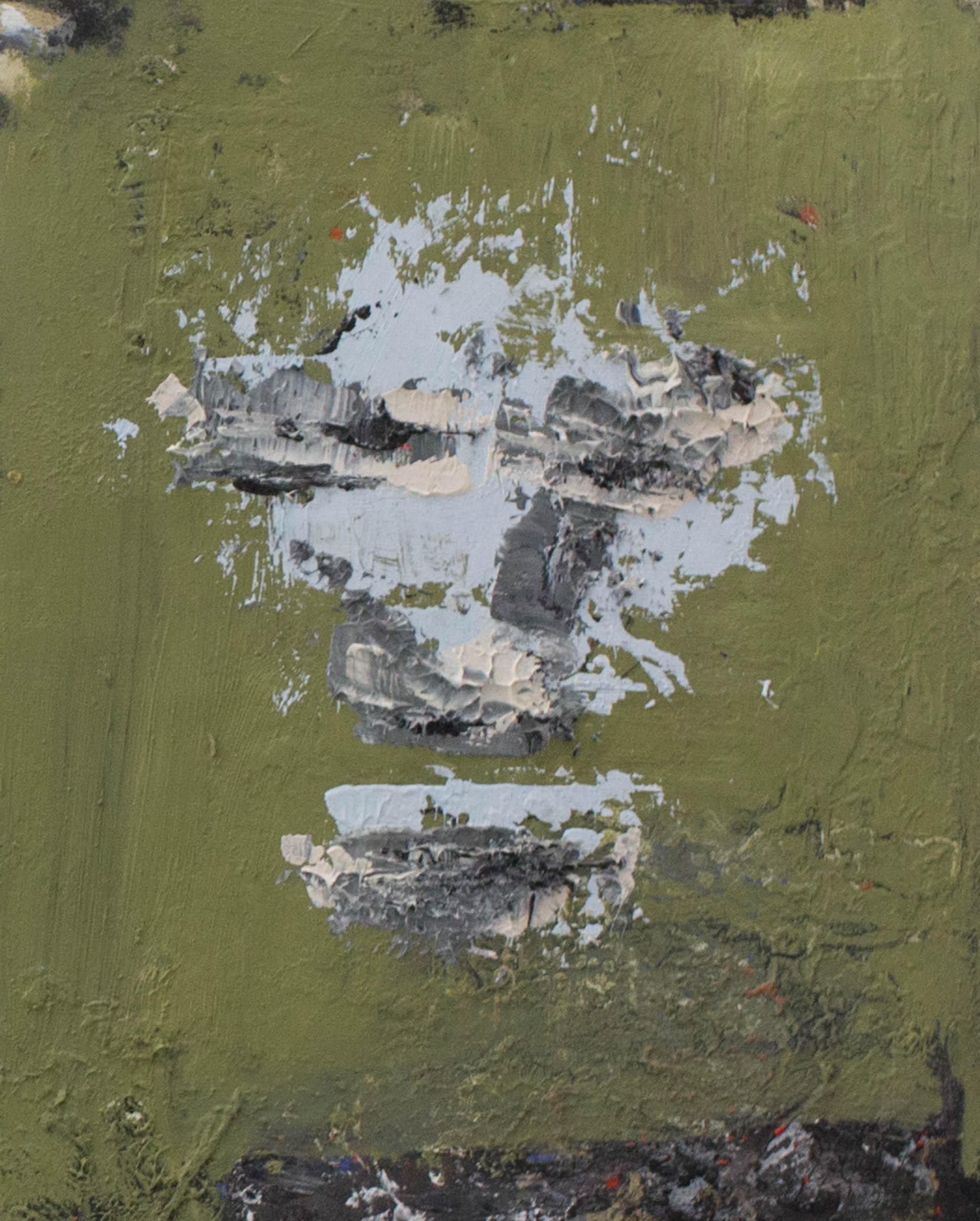 Mask I, 2016, oil on masonite,10 x 8 inches