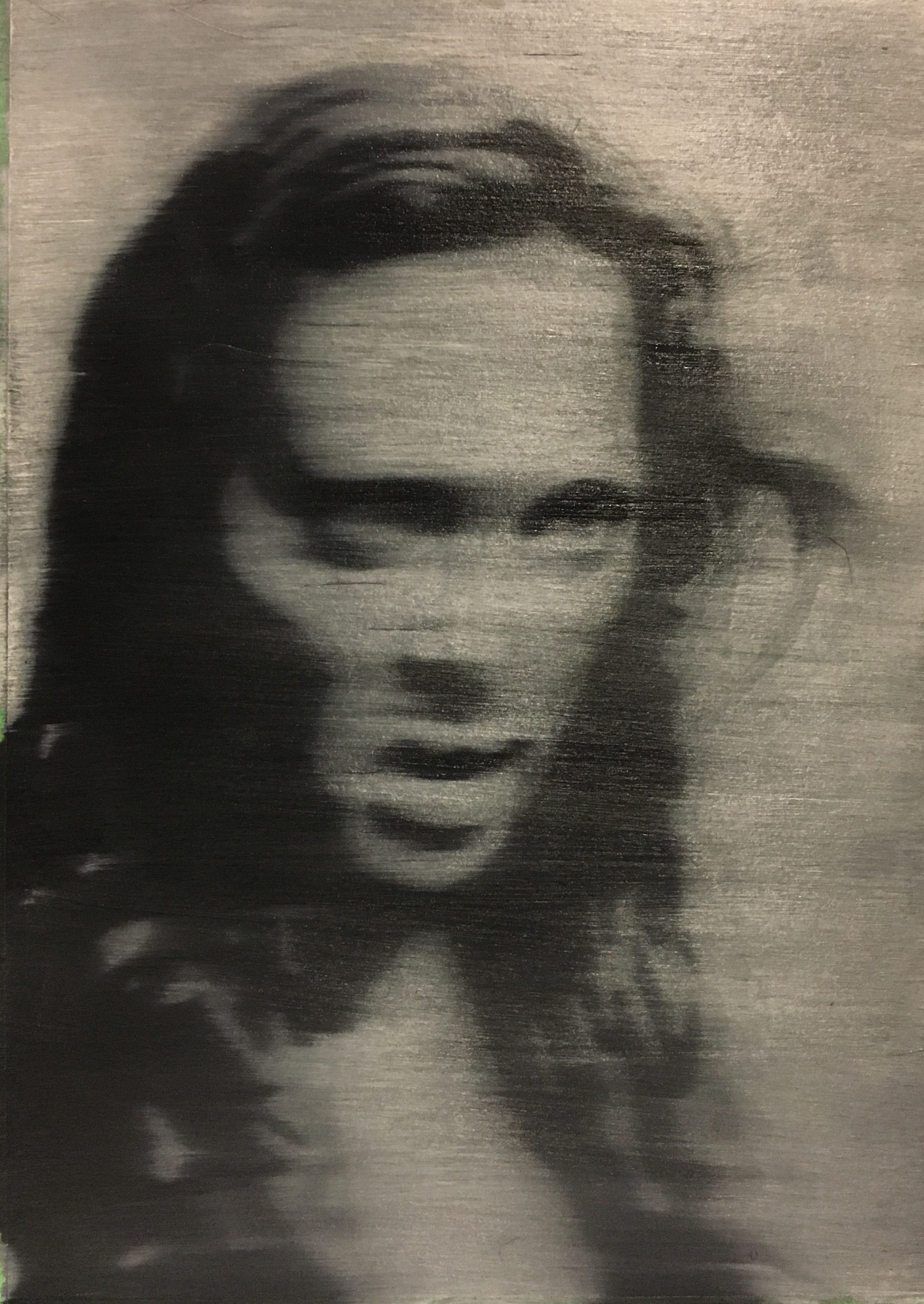 Heather, after Richter, 2017, oil on paper, 16 x 12 inches  SOLD