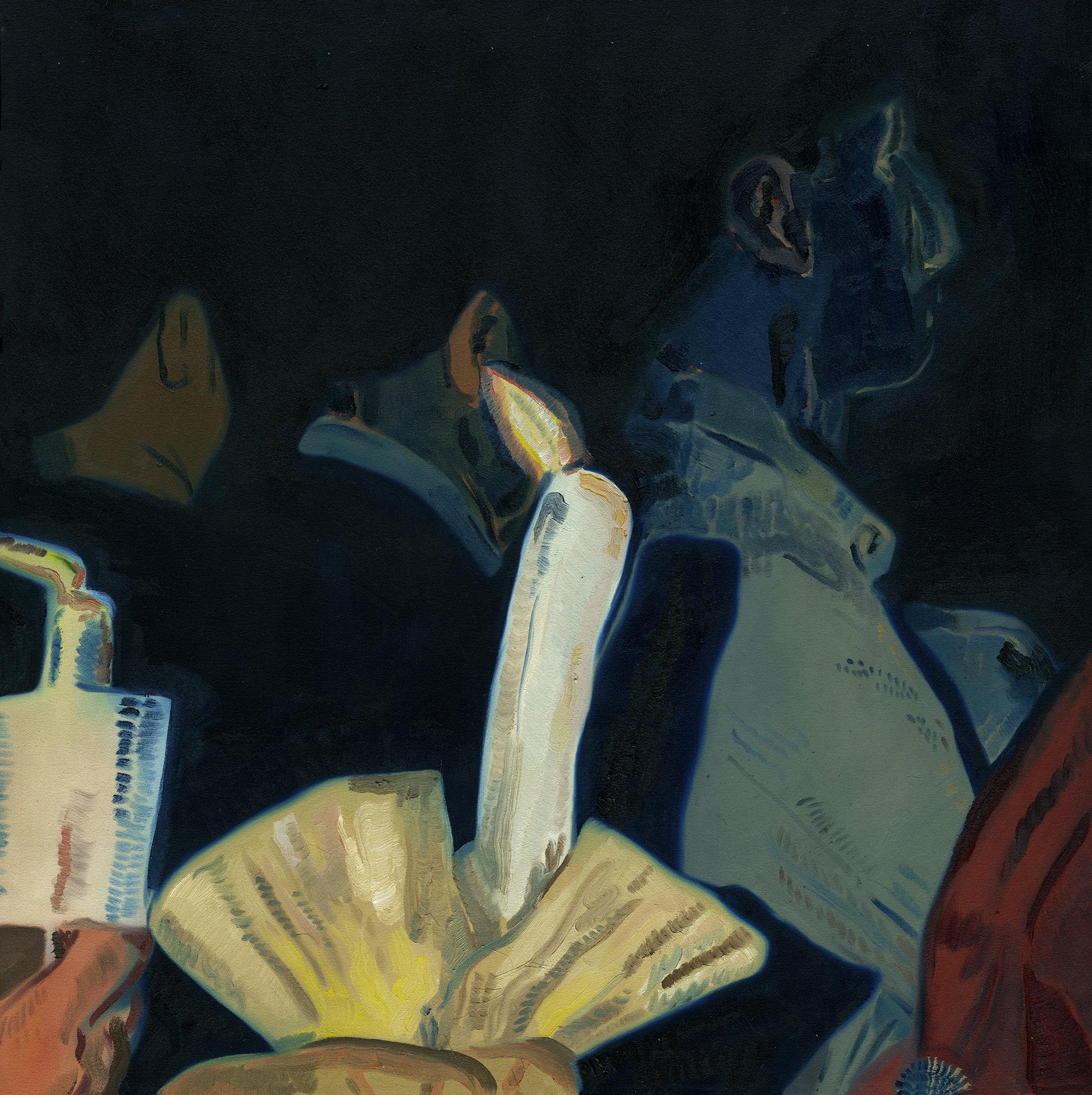 Anthony Cudahy,Vigil 1,2017,oil on canvas,32 x 32 in.