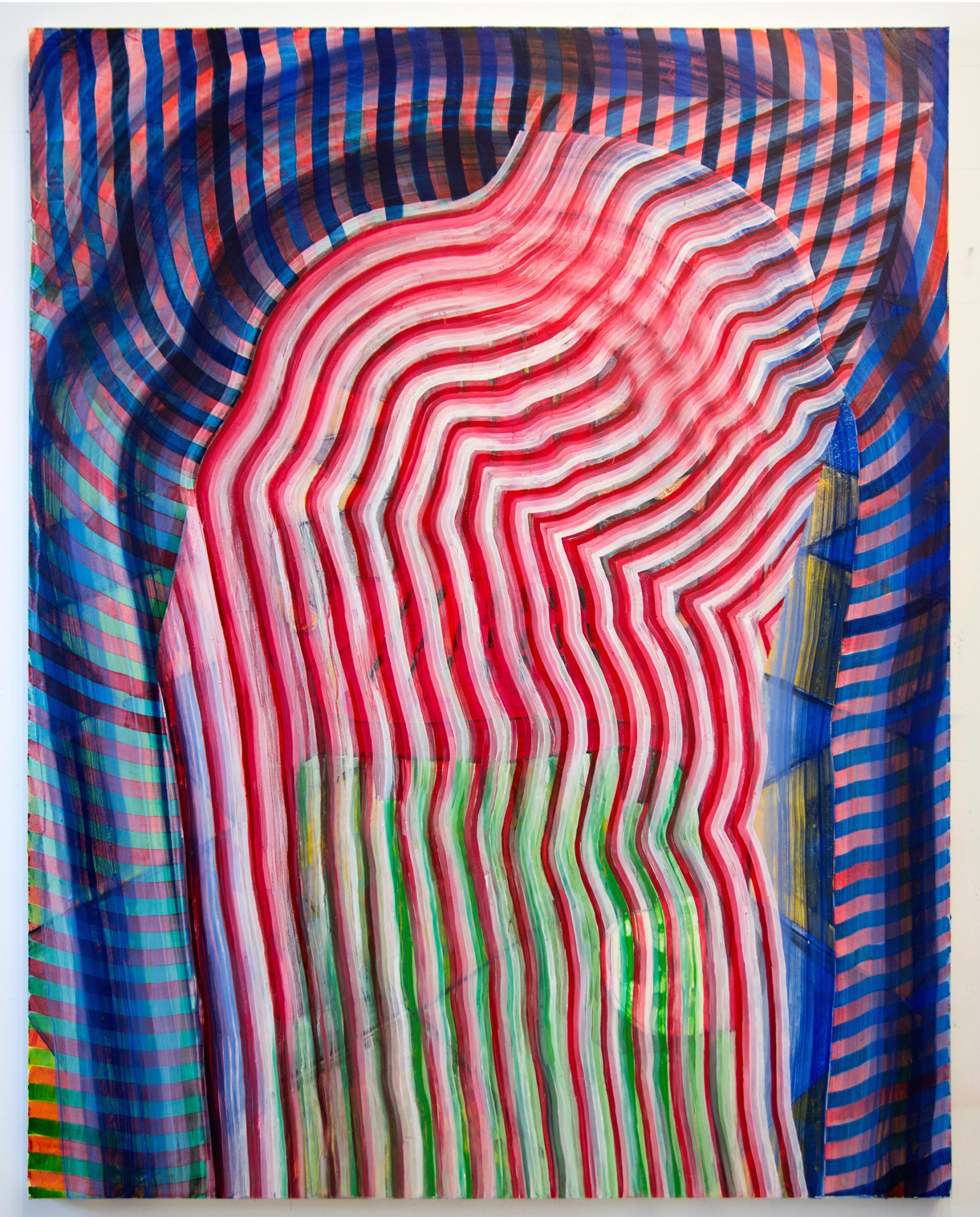 Mauricio Cortes Ortega,coca cola chair,2017,oil on canvas,60 x 48 in.